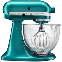 KitchenAid Artisan Stand Mixer 5 Qt Glass Bowl - Sea Glass