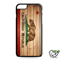 California Flag Wood iPhone 6 Plus Case | iPhone 6S Plus Case