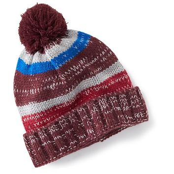 Old Navy Marled Pom Pom Beanies Size One Size - Red Stripe
