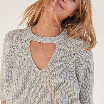 Silence + Noise Maddie Cut-Out Cropped Sweater | Urban Outfitters