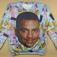 Fresh Prince of Bel Air Carlton all over print shirt