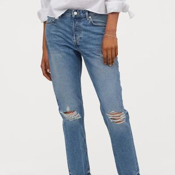 Boyfriend Low Jeans - Denim blue - | H&M US