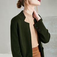 Wool Blend Knit Cardigan
