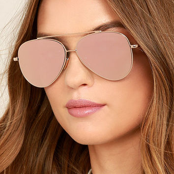Perverse Toni Bologni Pink Mirrored Aviator Sunglasses