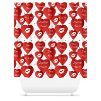 Valentine Love Shower Curtain