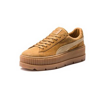 PUMA FENTY BY RIHANNA WOMENS CLEATED CREEPER SUEDE - LIGHT BROWN/BEIGE