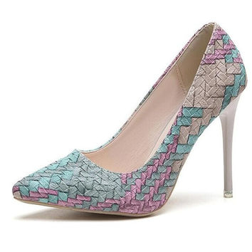Alyssa Basket Weave Pumps