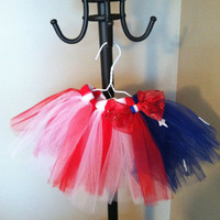 Red White and Blue 4th of July American Flag toddler by 2girls2Tus