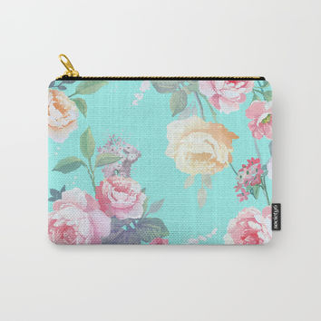 Floral pattern Carry-All Pouch by printapix