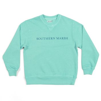 Youth SEAWASH™ Sweatshirt in Antigua Blue by Southern Marsh - FINAL SALE