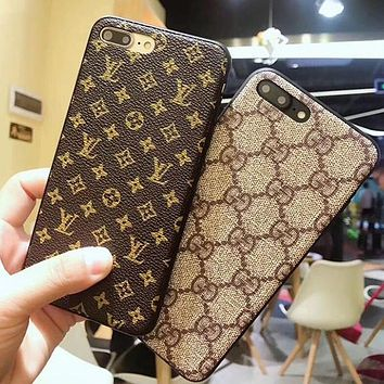 LV Gucci 2017 Hot ! Popular iPhone 7 iPhone 7 plus iPhone X XR XS XS MAX - Stylish Cute On Sale Hot Deal Matte Couple Phone Case For iphone 6 6s 6plus 6s plus For Black Friday
