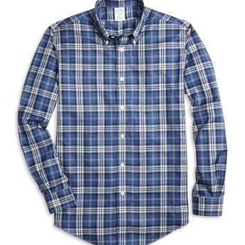 Non-Iron Milano Fit Blanket Plaid Sport Shirt - Brooks Brothers