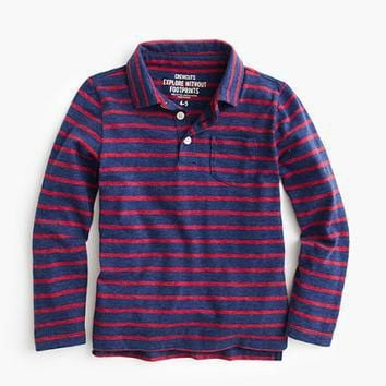 crewcuts Boys Long-Sleeve Polo Shirt In Fender Stripe