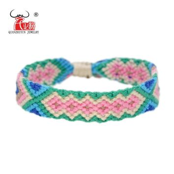 Handmade Bracelet Custom Cotton Wrap Popular Woven Rope String Friendship Bracelets For Women Men Dropshipping Bracelet