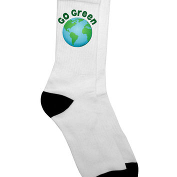 Go Green - Planet Earth Adult Crew Socks