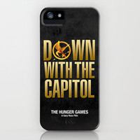 Hunger Games - Down With the Capitol iPhone Case by Cloz000 | Society6