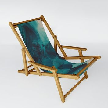 For Teal Sling Chair by duckyb