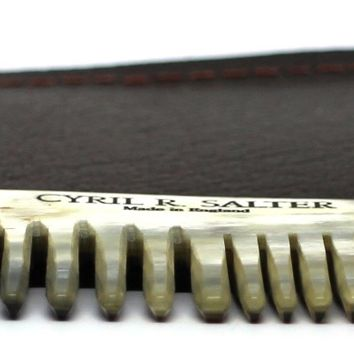 Cyril R Salter Natural Horn Hair Comb With Case