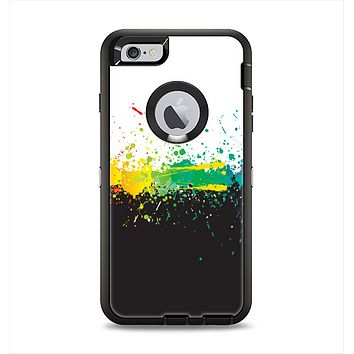 The Rainbow Paint Spatter Apple iPhone 6 Plus Otterbox Defender Case Skin Set