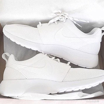 """NIKE"" Trending Fashion Casual Sports Shoes Pure White color"