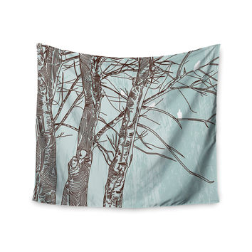 "Sam Posnick ""Winter Trees"" Wall Tapestry"