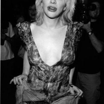 "Courtney Love Poster Black and White Poster 16""x24"""