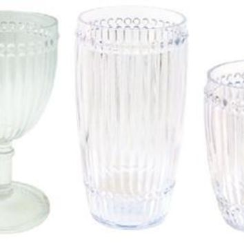 Milano Outdoor Drinkware - Clear - Set of 6