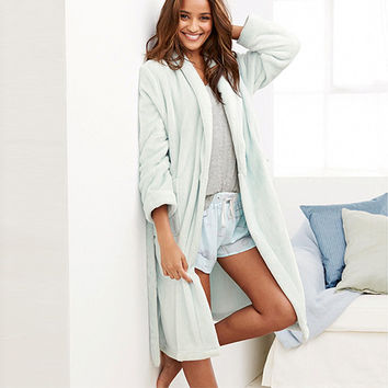 Women's Luxury Light Green Warm Robe