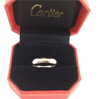 Cartier smooth face ring lettering ring women men