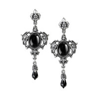 Alchemy Gothic Seraph of Darkness Wings & Teardrop Earrings