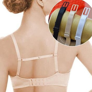 5pcsSports Underwear Non-slip Buckle Extender For Bra Strap High Elastic Bra Strap With Non-slip Fasteners For Bra Accessories