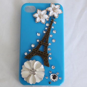 eiffel tower flower iphone case phone case iphone 4 case -Eiffel tower iphone case