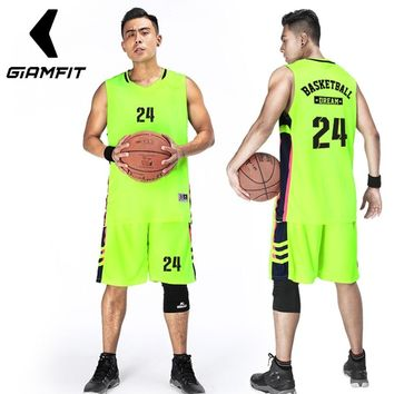 Men Custom Basketball Jerseys Uniforms Sports Clothing Professional College Jerseys Basketball Breathable Shirts Sets Plus Size