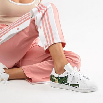 adidas Originals Stan Smith Sneakers In White With Embroidery at asos.com