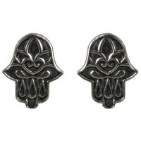 Tomas Sterling Silver Stud Earrings - Hamsa