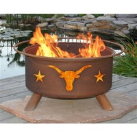 SheilaShrubs.com: Texas Longhorn Fire Pit F202 by Patina Products: Fire Pits