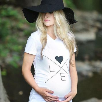 LOVE Arrows Maternity Shirt, maternity shirt,  maternity, maternity top, pregnancy top, pregnancy shirt, pregnancy gift, baby shower gift