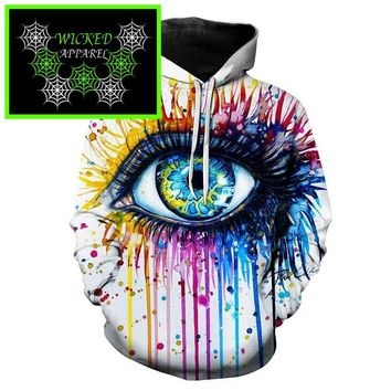 Wicked Apparel Rainbow eye Hoodie By Pixie cold #541