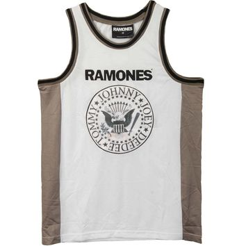 Ramones Men's  Basketball  Jersey White
