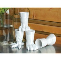 Animal Foot Shooter Glasses - Set of 4
