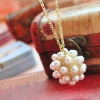 European Style Pearl Ball Necklace