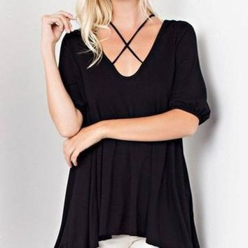 Sundays in Soho Cross Front Tunic