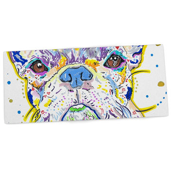 "Rebecca Fischer ""Niko"" French Bulldog Desk Mat"