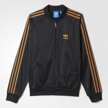 adidas Classic Superstar Bear Track Jacket - Black | adidas US