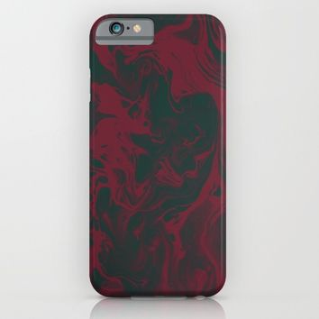 Cranberry and Evergreen iPhone & iPod Case by DuckyB