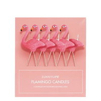 Pack of Five Flamingo Candles - Pink
