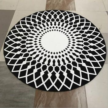ICIKHNW Round washable home yoga computer chair hanging basket mat living room Bedroom mat