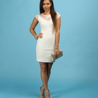 Promo-white Upscale Lace Dress