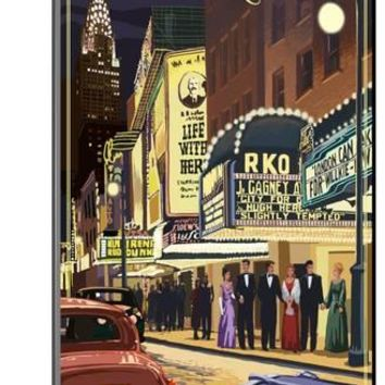 New York City, New York - Theater Scene Art Print by Lantern Press | the NEW Art.com