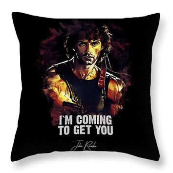 I Am Coming To Get You Throw Pillow
